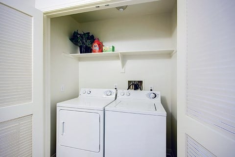 Washer/dryer closet