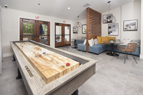 Resident Social Lounge with Vintage Game Room at The Knolls, Thousand Oaks, CA