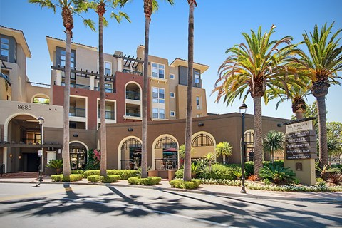 Luxury Apartments in Mission Valley, CA  The Promenade at Rio Vista Entrance