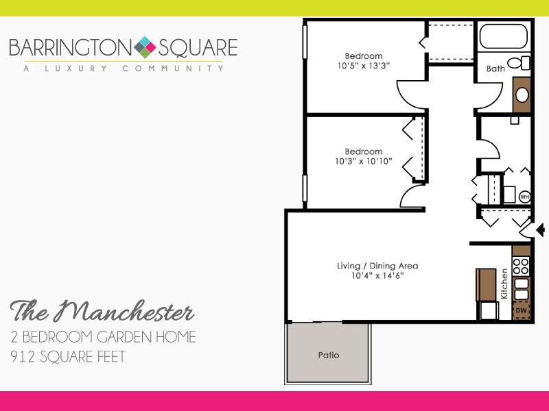 The Manchester - Two Bedroom Garden Home