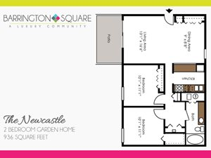 The Newcastle - Two Bedroom Garden Home