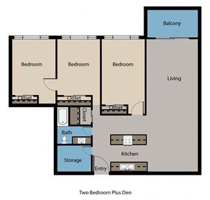 Two Bedroom-Den