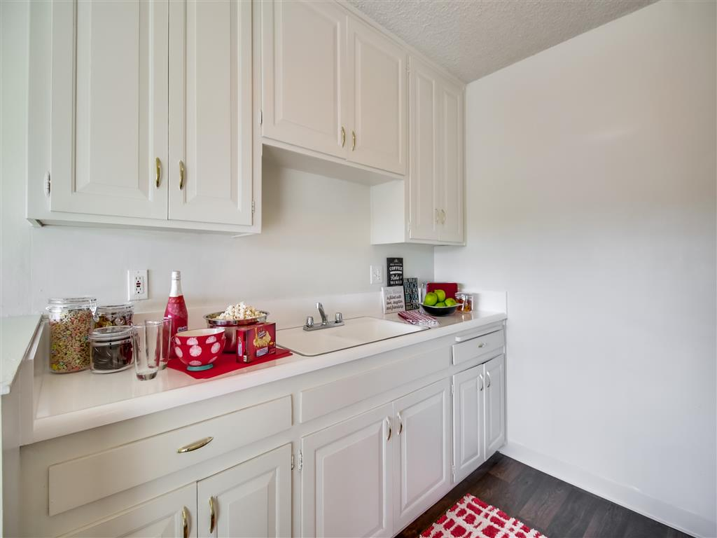 New Countertops and Cabinets at Alberts College Apartments, 5460 55th Street, CA