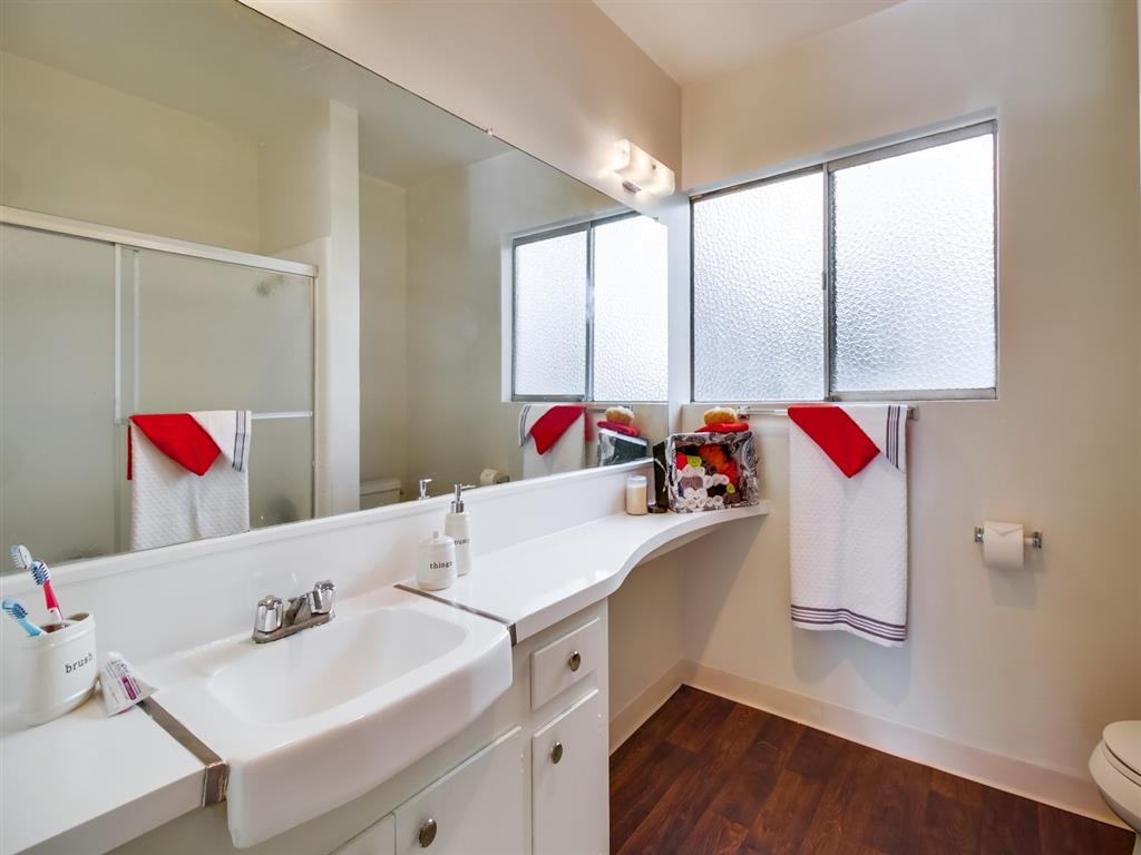 Custom Framed Bathroom Mirrors at Alberts College Apartments, San Diego, 92115