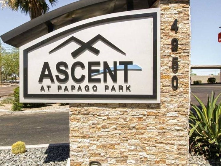 Entrance at Ascent at Papago Park, Phoenix, Arizona