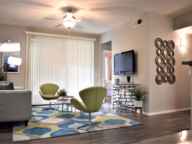 Furnished Living Room at Ascent at Papago Park, Phoenix, Arizona