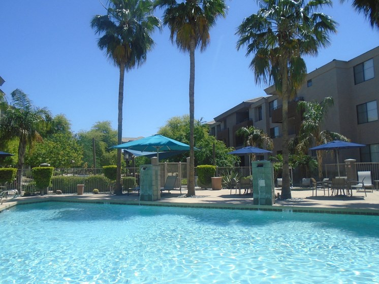 Sparkling Heated Pool at Ascent at Papago Park, Phoenix, Arizona