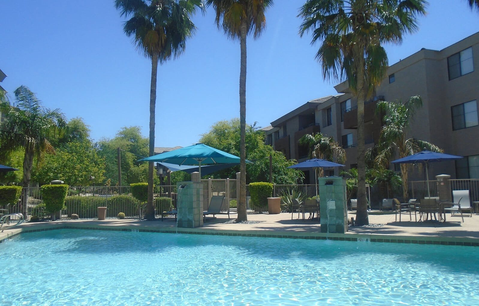 Sparkling Pool at Ascent at Papago Park, Phoenix, Arizona
