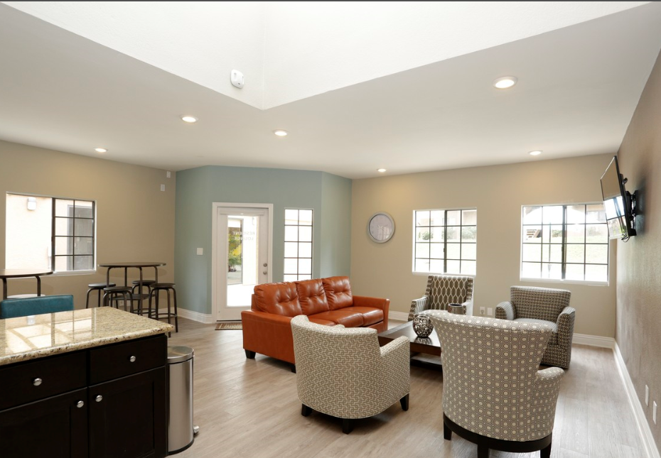 Community Area at Barham Villas Apartments, San Marcos, CA, 92078