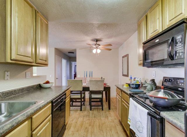 Kitchen at Barham Villas Apartments, San Marcos, CA