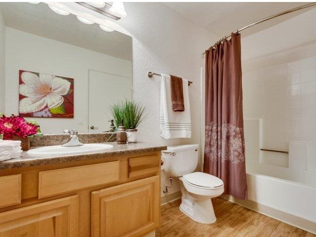 Bathroom at Barham Villas Apartments, San Marcos, California