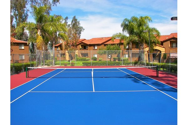 Tennis Court at Barham Villas Apartments, CA, 92078
