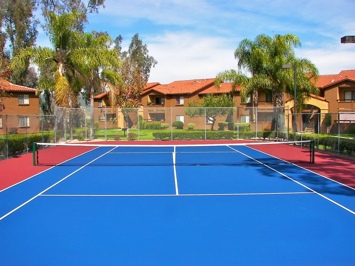 Tennis Courts at Barham Villas Apartments, San Marcos, California