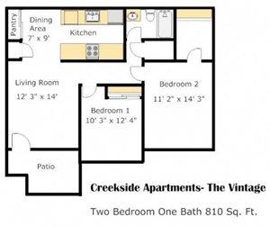 Floorplan at Creekside Village, San Bernardino, CA