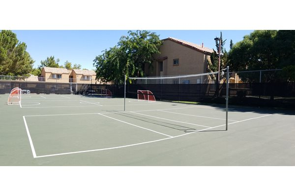 Badminton Court, at Granada Villas Apartment Homes, Lancaster, 93534