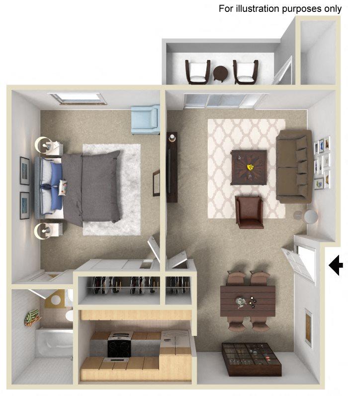 Studio, 1 & 2 Bedroom 55+ Apartments In Escondido