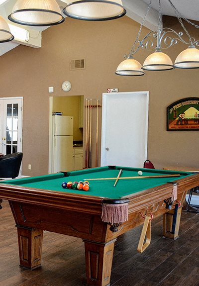 Pool Table at Morning View Terrace Apartments, California, 92026