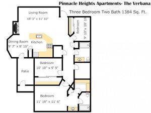 Verbena Floorplan at Pinnacle Heights, Tucson, AZ 85750