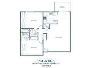 Alder - Two Bedroom Two Bathroom Floorplan at Sienna Heights, Lancaster, CA, 93535