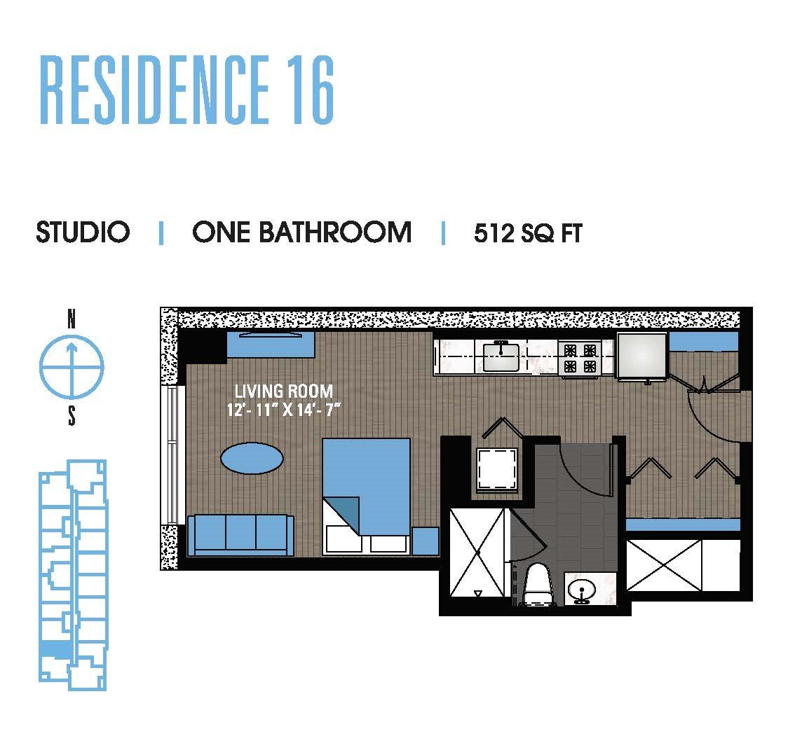 Studio 16 Floor Plan 1