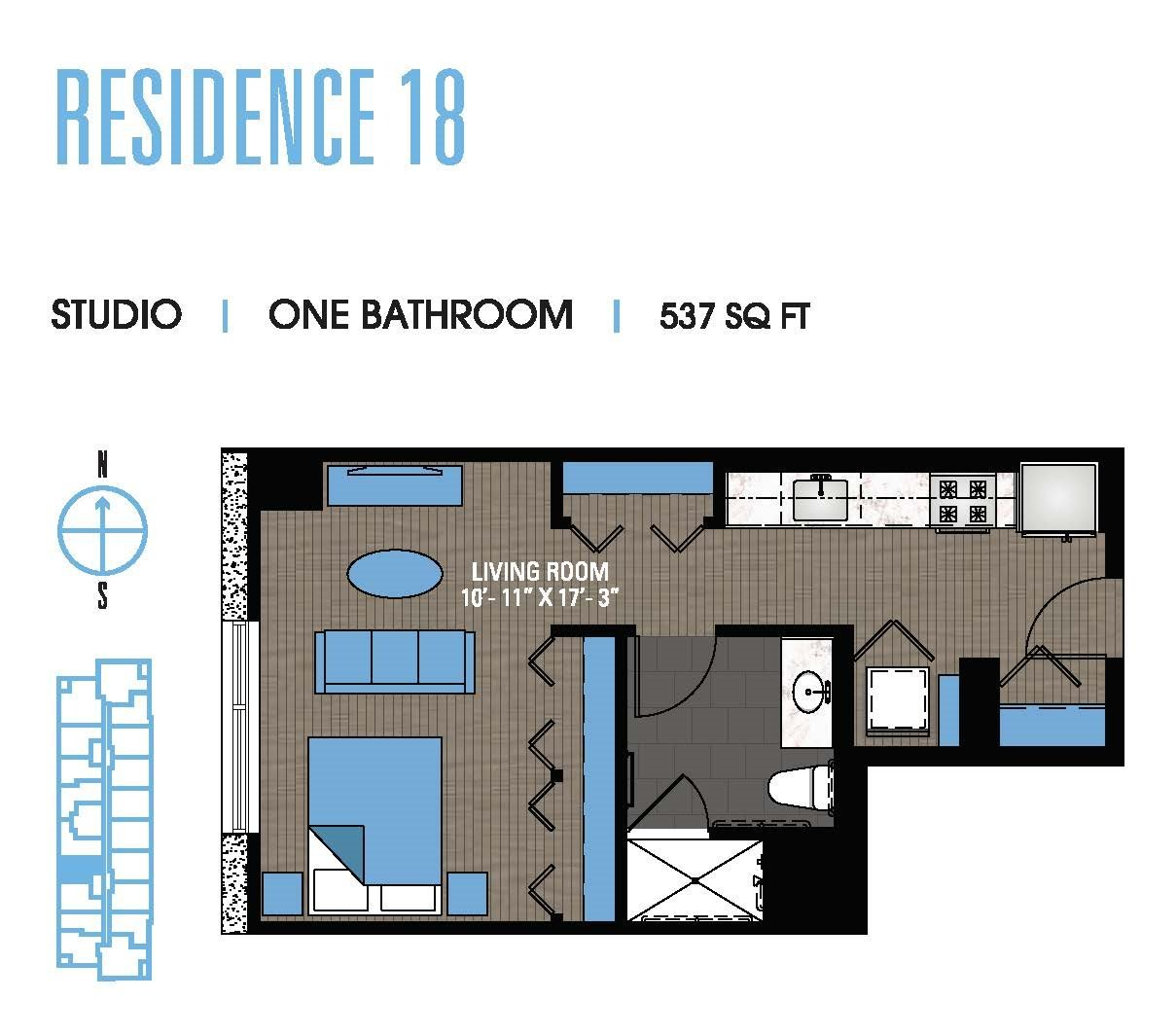 Studio 18 Floor Plan 1