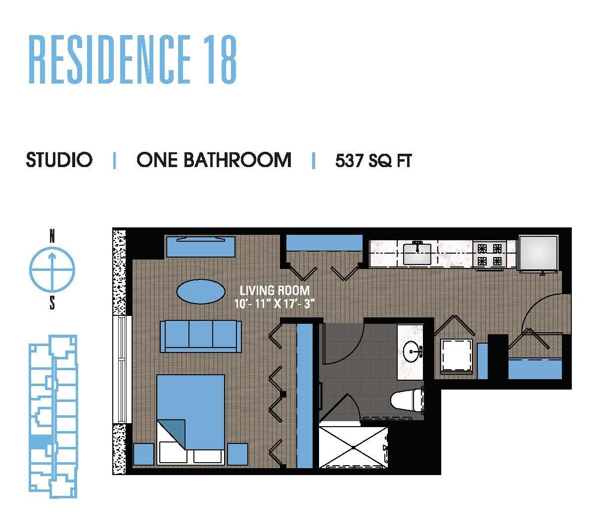 Studio 18 Floor Plan 2