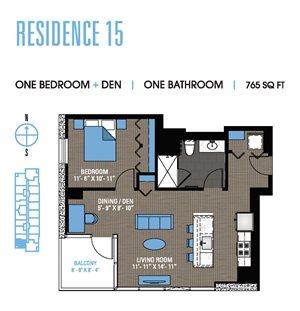 One Bedroom Den 15