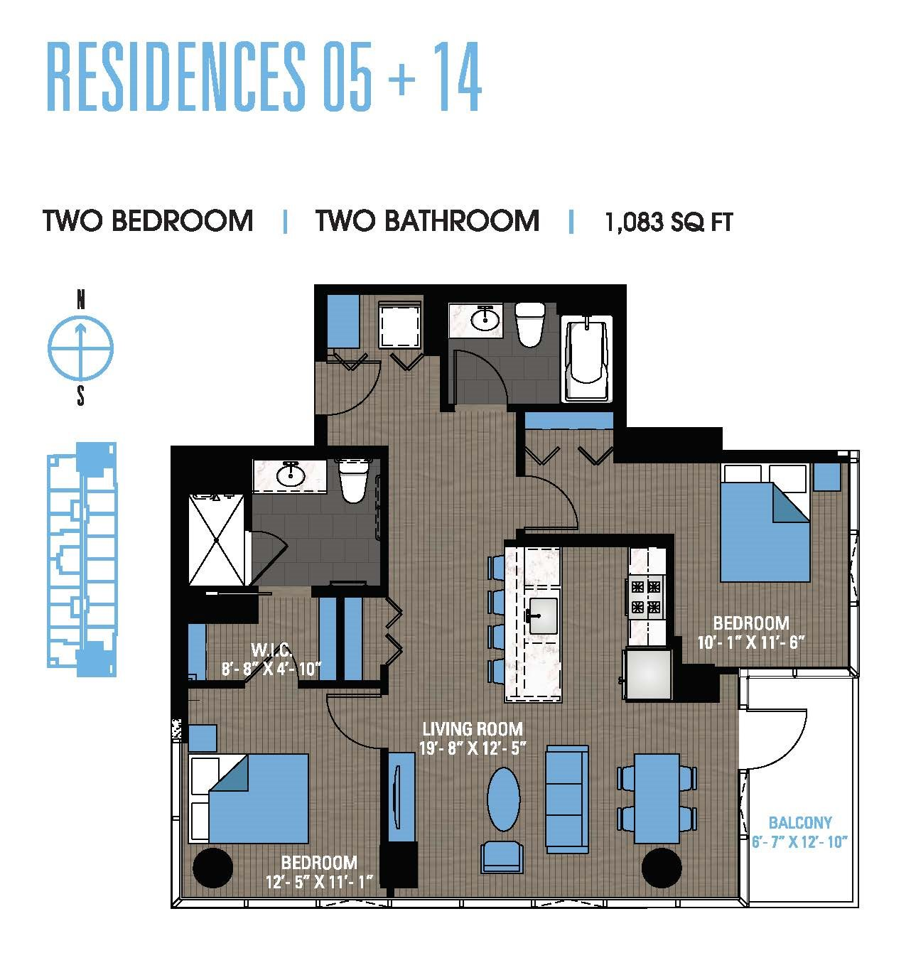 Two Bedroom 05+14 Floor Plan 10
