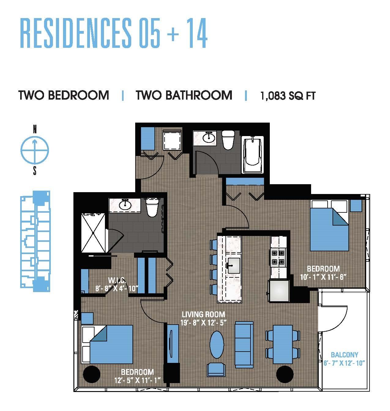Two Bedroom 05+14 Floor Plan 13