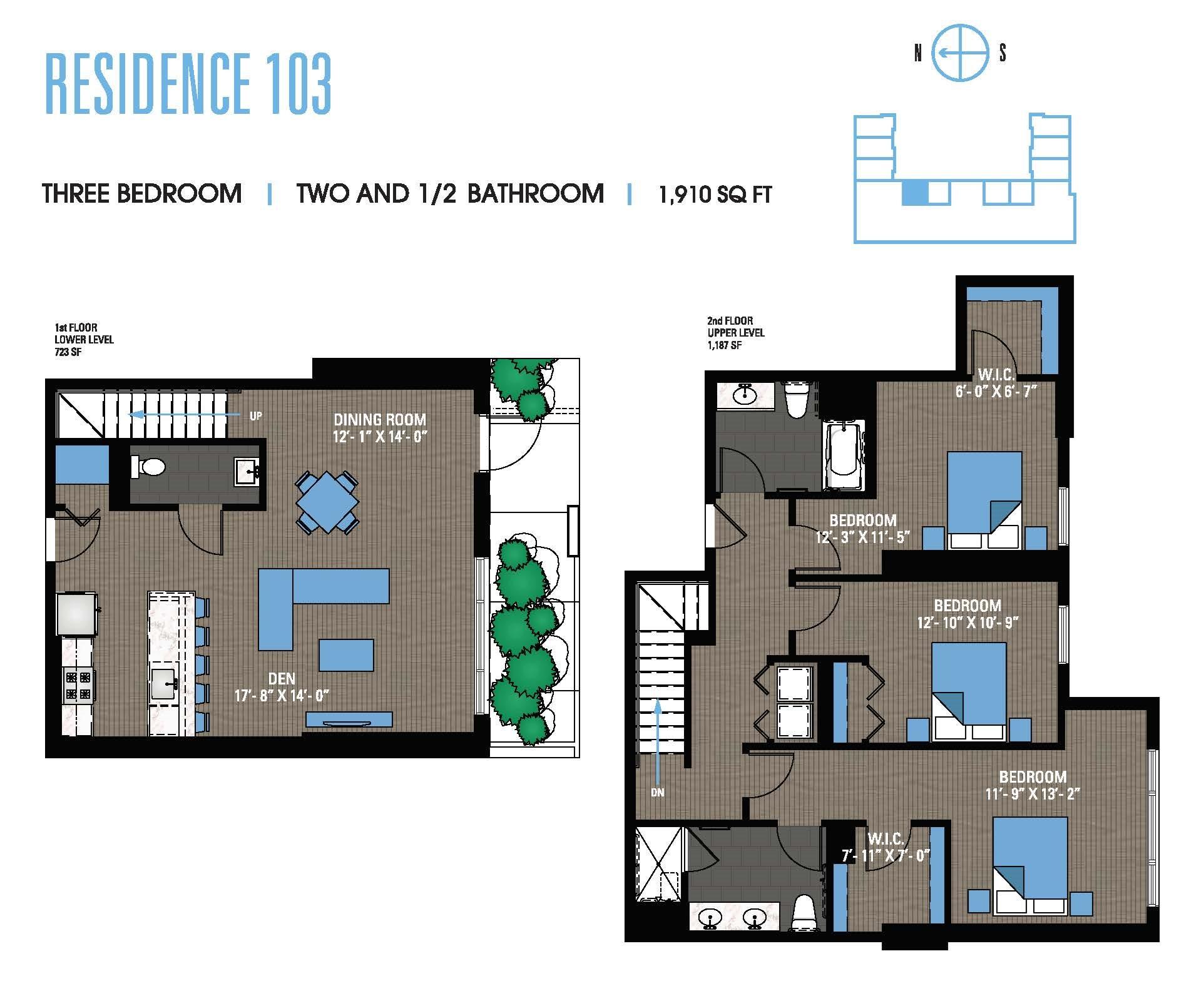 Three Bedroom 103 Floor Plan 15