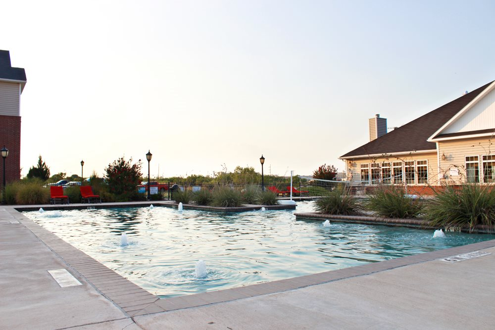 Sparkling swimming pool in San Angelo TX