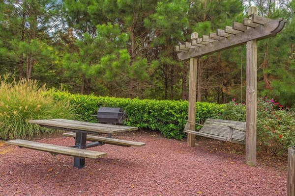 Centerville Manor Apartments Virginia Beach, VA 23464 grilling and picnic station with swing