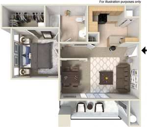 A2 Floor Plan at Waterstone Apartment Homes, Tracy, CA 95377