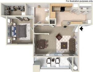 A1 Floor Plan at Waterstone Apartment Homes, California