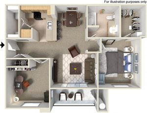 A5 Floorplan at Waterstone Apartment Homes, Tracy, CA
