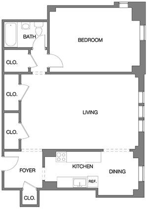One Bedroom F