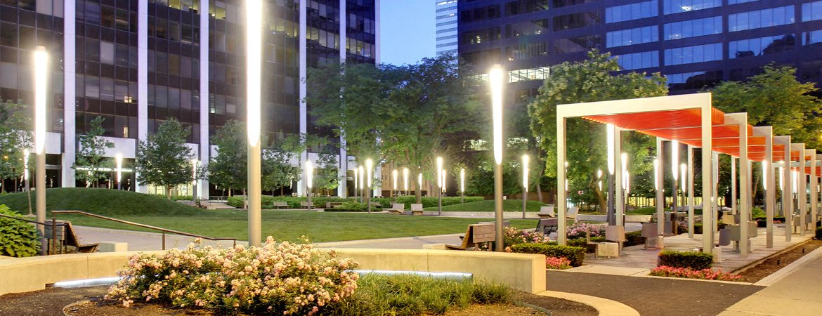 Access Controlled Garden Area, at Reserve Square, Cleveland, OH