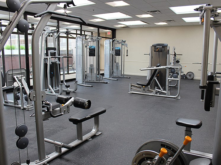 Fitness Center With Modern Equipment, at Reserve Square, Cleveland Ohio