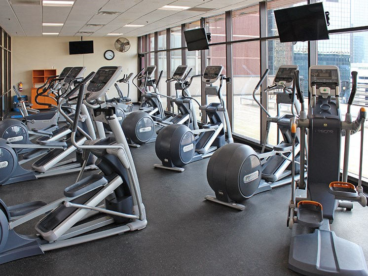 Fully Updated Fitness Center, at Reserve Square, Cleveland Ohio