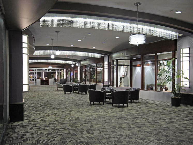 Brand New Furniture and Carpet in 1st Floor Lounge Area, at Reserve Square, Cleveland, OH