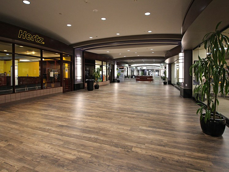Brand New Hard Surface Flooring in 1st Floor Mall Area, at Reserve Square, Cleveland, OH