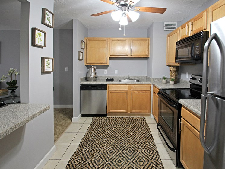 P2 Upgraded Model Kitchen with Stainless Steel Appliances, at Reserve Square, Cleveland, OH