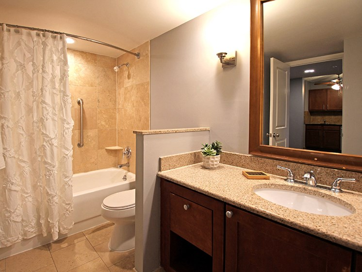 P3 Elite Model Bathroom with New Fixtures, at Reserve Square, Cleveland, OH