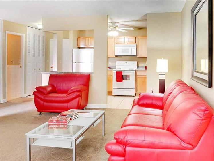 P1 Standard Model Living Room, at Reserve Square, Cleveland, OH 44114