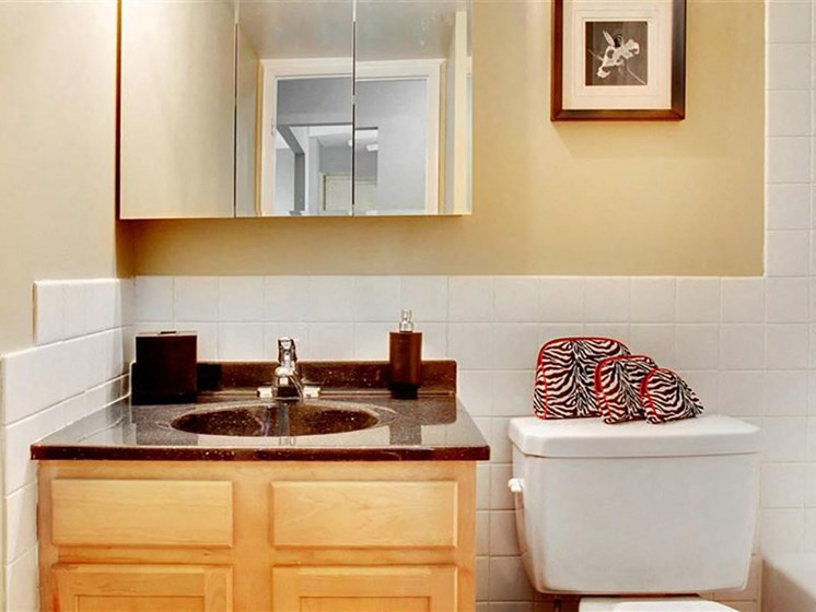 P1 Standard Model Bathroom, at Reserve Square, Ohio, 44114