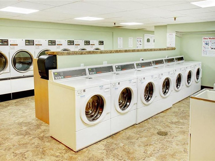 Laundry services, at Reserve Square, Cleveland, 44114