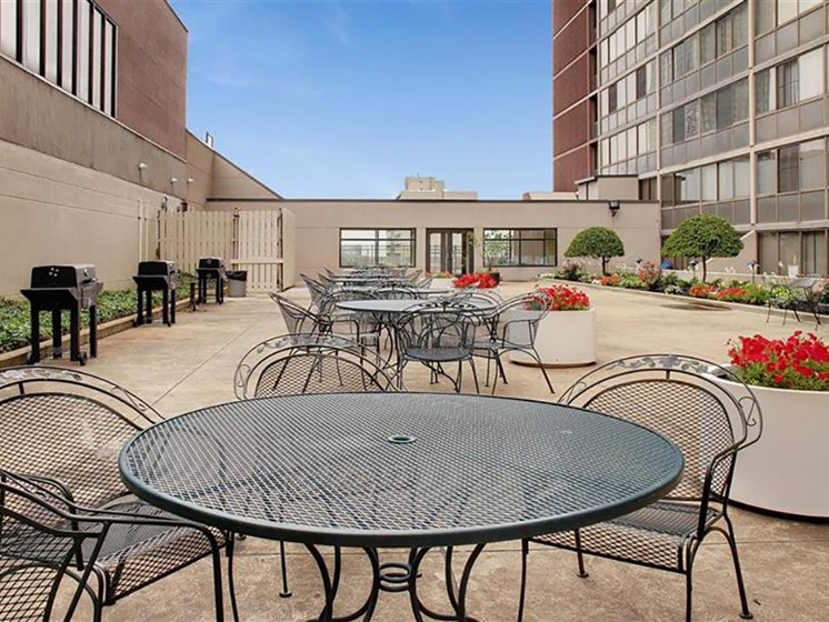 4th Floor Grilling Area and Patio, at Reserve Square, Cleveland, 44114