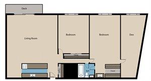 Two Bedroom plus Den