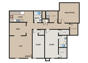 2 Bedroom | 2 Bathroom C