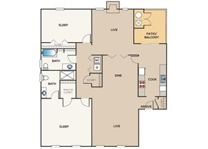 2 Bedroom | 2 Bathroom B